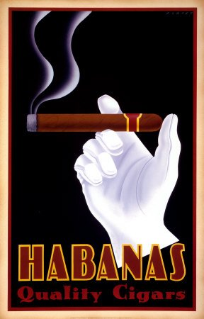 Habanas Quality Cigars Poster Stampa Artistica di Steve Forney (18 x 28)