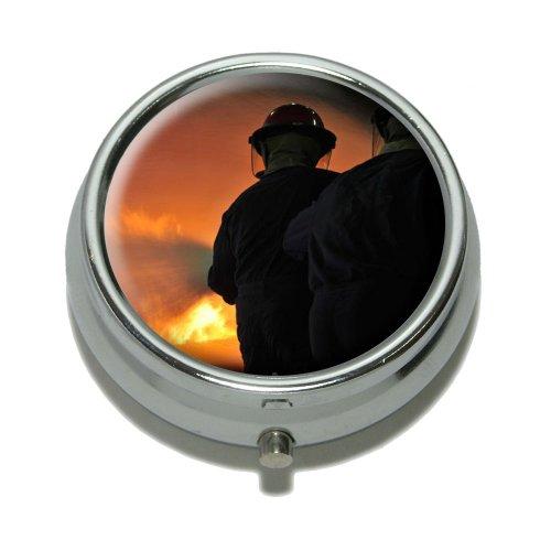Feuerwehr Fighting Fire–Feuerwehr Pille Fall Schmuckkästchen Geschenk-Box (Aufklappbaren Gehäuse-deckel)