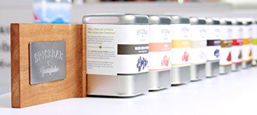 Spicebar Design Gewürzregal, passend für 10 Spicebar Gewürzdosen, die magnetisch gehalten werden (Kirsche)