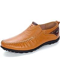Pump Men Loafer Slip On Casual Chaussures Lerther Sandales Hollow Respirant Pure Couleur Été Forme antidérapante Sole Soleil Style Anglais Tailles 37-47