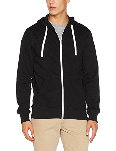 JACK & JONES Herren Sweatjacke Jorholmen Sweat Zip Hood Noos, Grau (Tap Shoe Fit:Reg Fit), Small
