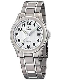 FESTINA F16458/1 - Reloj de caballero de cuarzo, correa de titanio