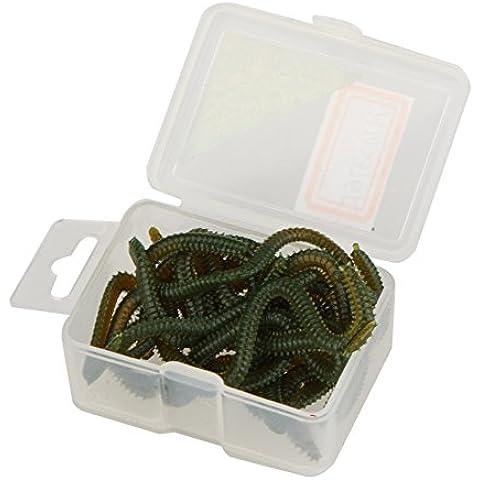 Sixmad (TM) 17 pz / molle del lotto di simulazione Worms Fishing Lure Fishy Smell Isca artificiale esche realistici esche da pesca con la scatola 10 centimetri rosso /