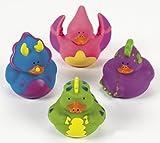 Lot Of 12 Dinosaur Rubber Ducks Dino Par...