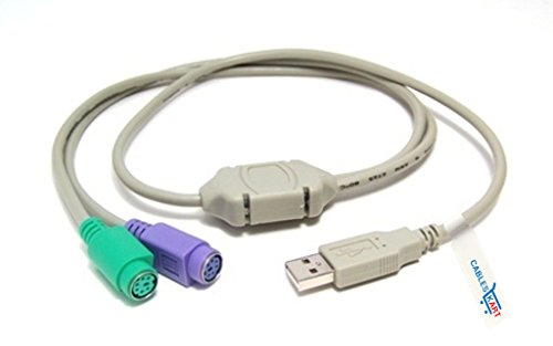 Cables Kart USB to PS/2 Active Adapter, USB Type A Male to 2 PS/2 Female (Keyboard and Mouse)
