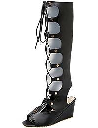 suchergebnis auf f r sommerstiefel keilabsatz sandalen damen schuhe handtaschen. Black Bedroom Furniture Sets. Home Design Ideas