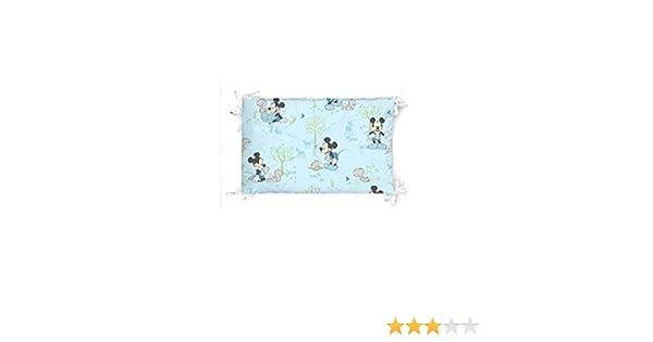 Fabriqu/é en Italie rembourrage en fibre hypoallerg/énique de polyester Disney Baby Tour de lit pour lit b/éb/é Rev/êtement 100/% coton Dimensions 40 x 180 cm Mickey Patch