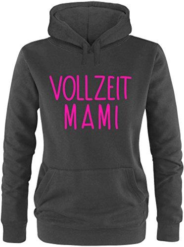 EZYshirt® Vollzeit Mami Damen Hoodie Schwarz/Pink