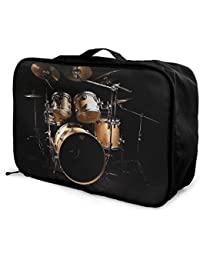 Bulldog And Gothic Rose Travel Lightweight Waterproof Folding Storage Carry Luggage Duffle Tote Bag Large Capacity In Trolley Handle Bags 6x11x15 Inch