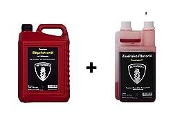 Kettenbertl 5l Kanister Sägekettenöl + Kettenbertl 2-Takt Mischöl 1:50 1l Dosierflasche