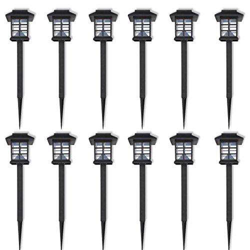 vidaXL Jeu de Lumières solaires à LED, Guirlande Lumineuse pour extérieur, 12Pièces