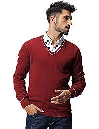 Match Men's Knitwear V-Neck Sweater #1621
