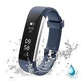 Lintelek Fitness Armband Schrittzähler, Wasserdicht Fitness Trackers Kalorienzähler Uhr Aktivitätstracker mit Anrufe SMS Nachrichten Erinnerung und 14 Trainingsmodi für Damen Kinder Herren