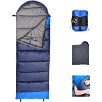 Lv. life Rectangular Sleeping Bag Oversize Envelope Sleeping Bag Warm with Compression Sack,Lightweight & Portable Great for 3-4 Season Traveling/Camping/Hiking/Outdoors