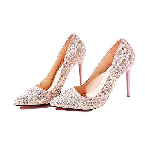 tacchi alti Acqua Diamante tacchi alti 10 centimetri di moda - rosa 40