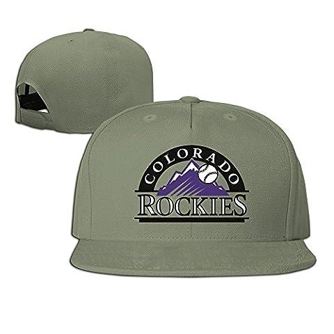 XCarmen Okpk Colorado Rockies Logo Plain Adjustable Snapback Hat Baseball Cap Unisex Ash