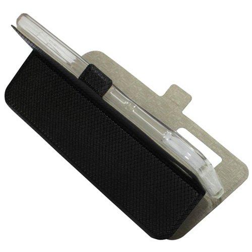 Casotec Premium Kickstand Caller-id Flip Case Cover with Snap Button Closure for VIVO Y31 – Black