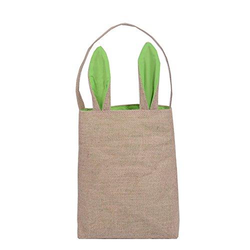 JYJM 2019 Jute Geschenkbeutel Ostern Hasenohren Tasche Tote Handtasche Wristlets Clutches Bag Ostern...