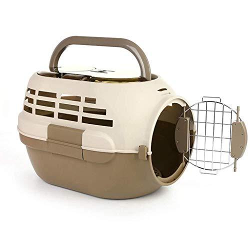 Eyxia-Pet-Master Tragbarer Käfig for Haustiere, Hund mit Dachfenster-Luftbox for Haustiere, Tragbarer Katzensendungskasten for Haustiere, Luftkäfig, Tragbarer Rucksack for Katzen (Farbe : Brown)