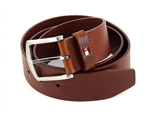 TOMMY HILFIGER New Denton Belt 4.0 W115 Dark Tan