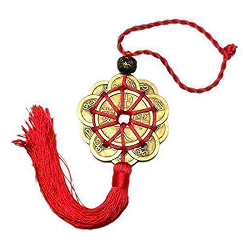 Nai-Style Noeud Chinois Gland Rouge Chinois Chanceux Pendentif Ornement Accrochant Coin Chanceux Noeud Chinois Auto Pendentif Feng Shui Pendentif Home Décor Ornement Festival Pendentif de Voiture