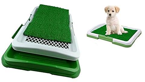 takestop Dog Toilette Chiens Potty Pad Litière WC Lavable 3niveaux couches besoins animaux 47x 34x 6cm