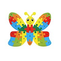 Festiday 1PC Cute Alphabet Wooden Puzzle Kids Toy Sale, Wooden Wood Animal Puzzle Numbers Alphabet Learning Toy Gift Education Toy for Boys Girls Children for 1 2 3 4 + Years Old Funny Party Toys