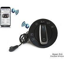 EL9 Auto Lichtsensor Bluetooth App Lichtschalter, KFZ Scheinwerferschalter Hauptlichtschalter Nebelscheinwerfer, Coming Leaving Home Modul – UP, Golf 4, Polo 9N 6R, Passat B5, Beetle, T4 T5, Amarok