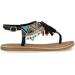 Sandalias y chanclas para mujer, color Negro , marca GIOSEPPO, modelo Sandalias Y Chanclas Para Mujer GIOSEPPO 40516G Negro