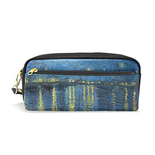 (jstel Van Gogh Star Schule Bleistift Tasche für Kid Jungen Kinder Teens Stifthalter Kosmetik Make-up-Tasche Frauen Haltbare Stationery Pouch Bag großes Fassungsvermögen)