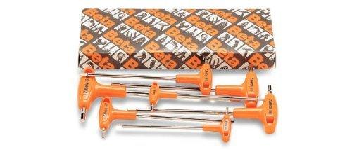 Beta Tools 96T/S5P 96T Chiavi in scatola, Nero/Arancione (Set di 5)
