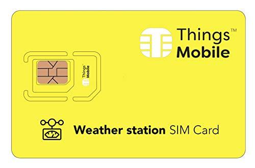 Tarjeta SIM IOT/M2M para ESTACIONES METEOROLÓGICAS - Things Mobile - con cobertura global y red multioperador...