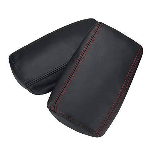Viviance Leder Car Console Center Arm Rest Cover Kissen Für Nissan Qashqai J11 2016-17 - Rot