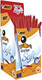 Bic Cristal Soft Penna a Punta Media da 1.2 mm, Confezione da 50 Pezzi, Rosso