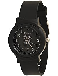 Vizion Analog Black Dial (Fig & Rig-Twin Pandas) Cartoon Character Watch for Kids- 8811-1-2