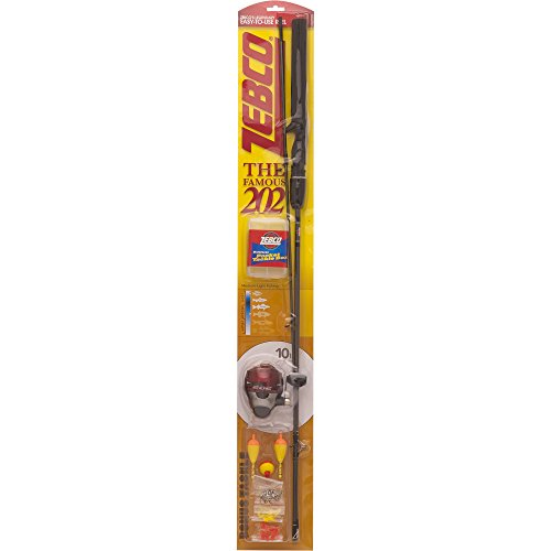 Zebco 1245LFTKF 202 Spincast Packaged Combo with Line -