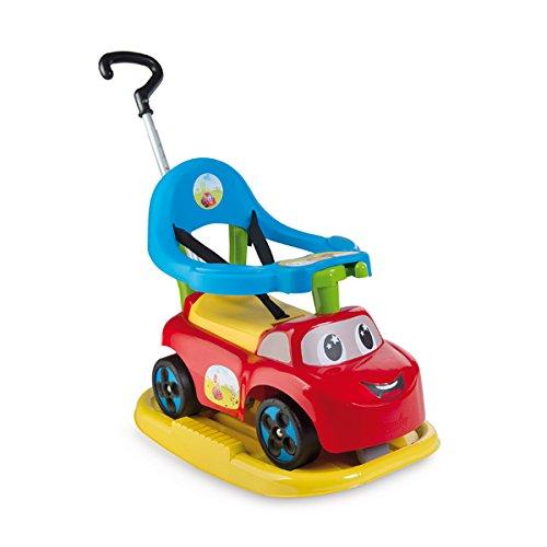 Smoby Toys, 720609, Porteur Auto Bascule, 4 en 1, Klaxon Electrique, Rouge