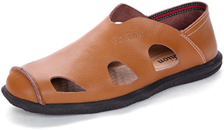 LYZGF Männer Jugend Sommer Casual Baotou Sandalen Mode Atmungsaktive Strand Hausschuhe