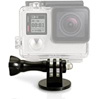 igadgitz Adattatore Treppiedi / Monopiede / Selfie Stick Supporto con Vite e Bullone per GoPro Hero5 Nero, Hero5 Session, Hero4, Hero3+, Hero3, Hero2, Hero1, Hero Session - Nero - Staffa Bullone