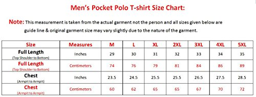 Neue Herren Poly Cotton Pique Pocket Polo Sommer gerippt Kipp Halsband PK T - Shirt Sky