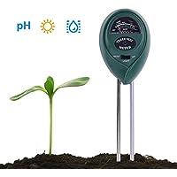 RCYAGO 3 en 1 Medidor de pH del Suelo y del Metro del probador del Sensor de Humedad para Las Plantas de Interior y al Aire Libre Jardines y césped de la Hierba