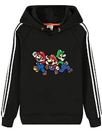 a276953a019c Aivosen Unisex Mode Super Mario Hoodies Hiver Chaud Pullover Manches  Longues Sweat-Shirts pour Hommes