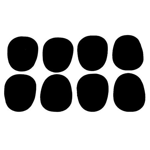 SODIAL(R) 8x Floete Mundstueck Pad Schwarz 0.5mm Dick