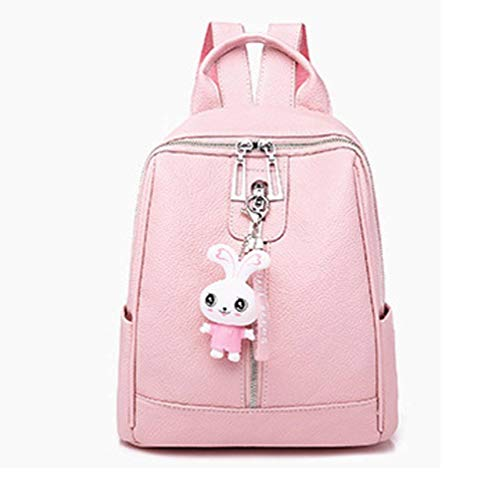 CYY Lady Rabbit Pink Shoulder Pack Pure Color Girl Rucksack 23cm *14cm *28cm