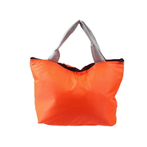 Pranzo Borsa, Culater Lunchbox per Porta pranzo Picnic Insulated portatile impermeabile Conservazione degli alimenti sicurezza Tote sacchetto del pranzo (arancia)