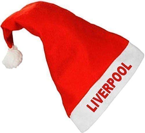 Liverpool FC Fußballverein Santa Weihnachtsmann Weihnachtsfest Hut - spaß