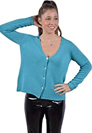 UNA su 10 Giacca Sciallata Maglieria Donna, 100% Pura Lana Extrifine, Senza Cuciture
