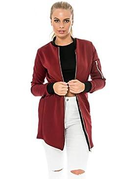 FEITONG Mujeres de la manera larga delgada Escudo chaqueta del foso Parka Outwear Cardigan