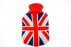 Bouillotte-Union Jack-Drapeau Anglais-Coque-Pull tricoté - 30 x 16 cm
