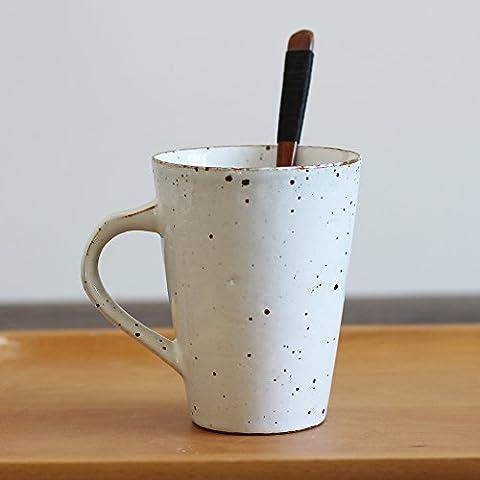 Tazze di ceramica creativa tazza personalizzata continental cup con coperchio, cucchiaio semplice colazione coffee CUP (Personalizzata Cucchiaio Da Bambino)